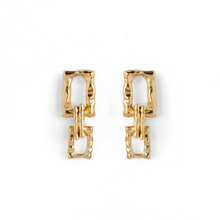 Load image into Gallery viewer, Handmade 24k Gold Plated Single Rectangular Chain Link Earring