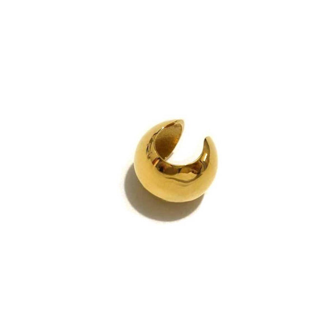 Dainty and smooth gold plated easy click ear cuffs for everyday wear handmade from brass