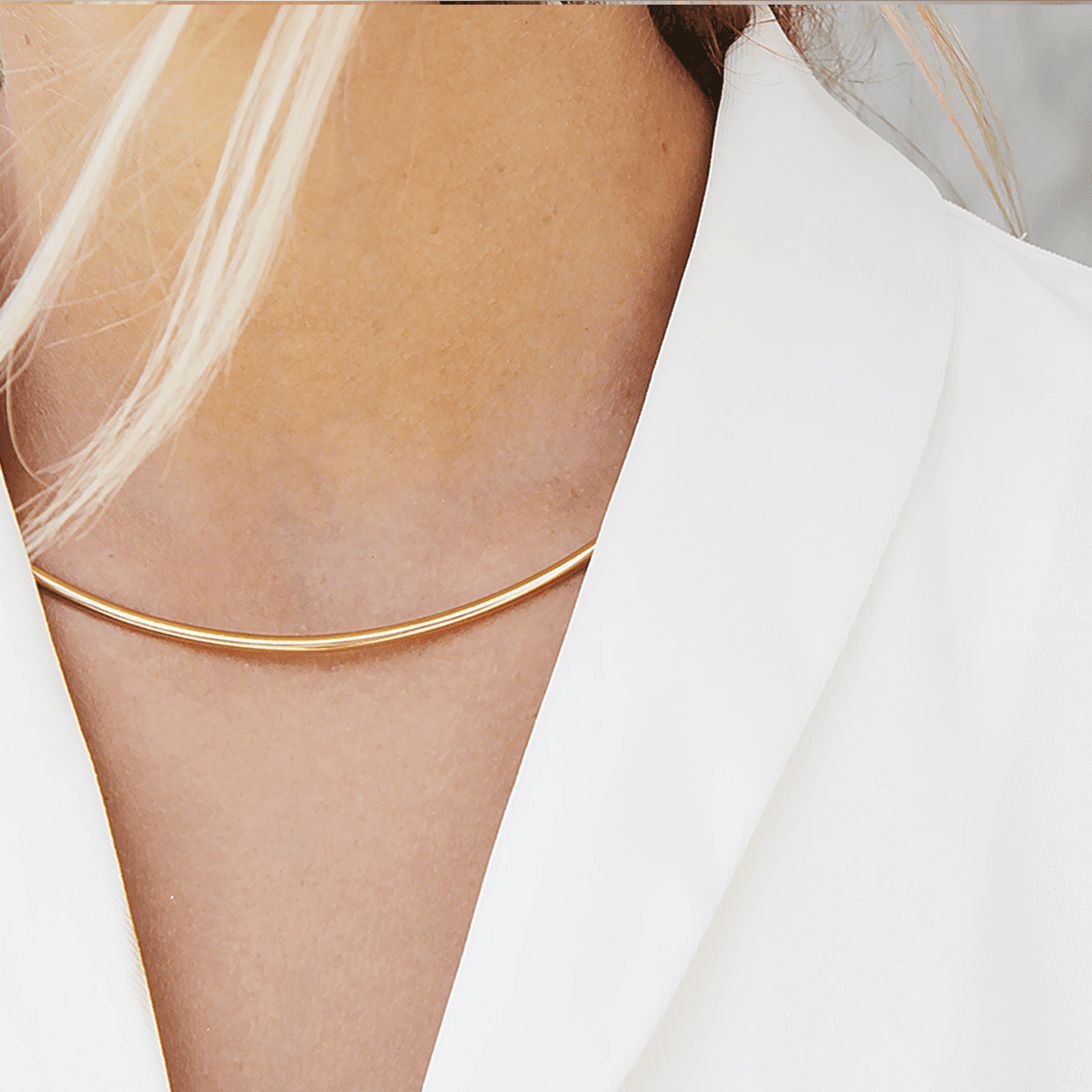 Dual-Use 18k Gold-Plated Collar Necklace
