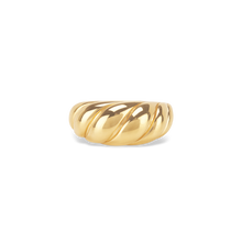 Load image into Gallery viewer, Gold Vermeil Thin Dome Croissant Ring