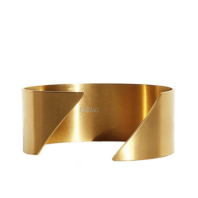 Handmade 18k Gold Plated Adjustable Diagonal Cuff Bracelet - Tanzire Store