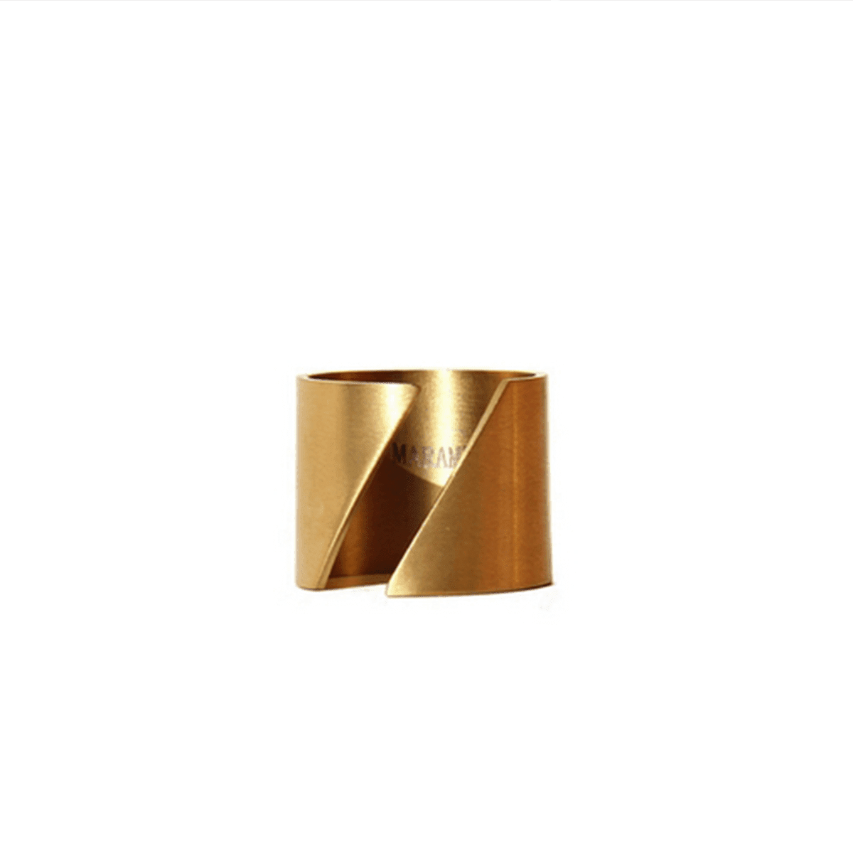 Basic 18k Gold-Plated Ring With A Twist