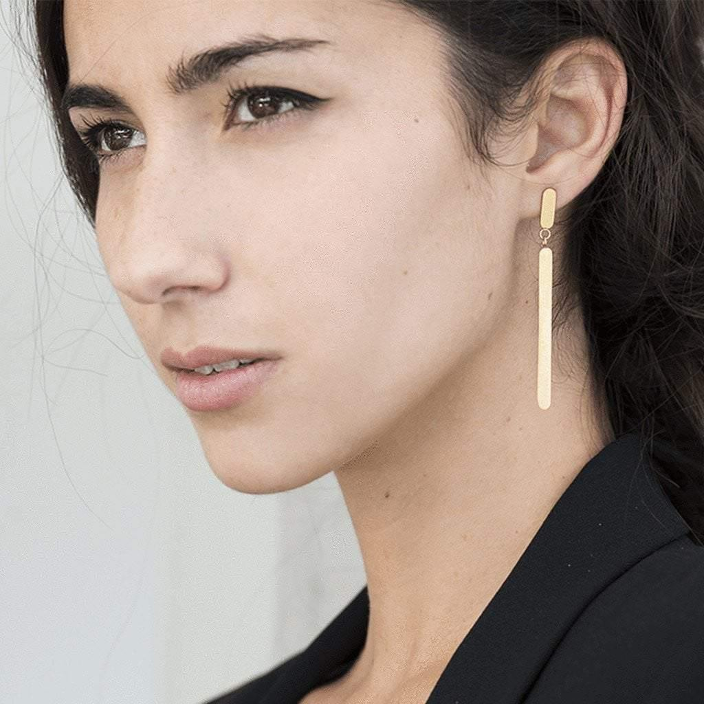 18k Gold-Plated Drop-Down Christins Earrings - Tanzire Store