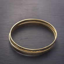Load image into Gallery viewer, Kimana Hammered Bangle Bracelet