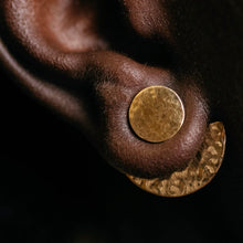 Load image into Gallery viewer, Lela Hammered Brass Earrings
