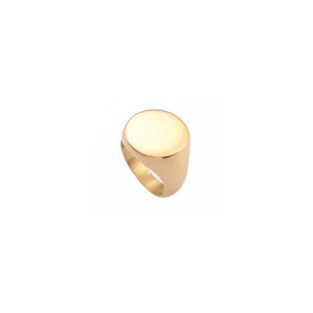 Stone-Studded 18k Gold-Plated Ring