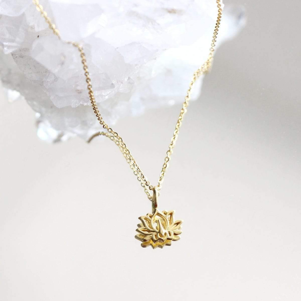 Lotus Sterling Silver Necklace