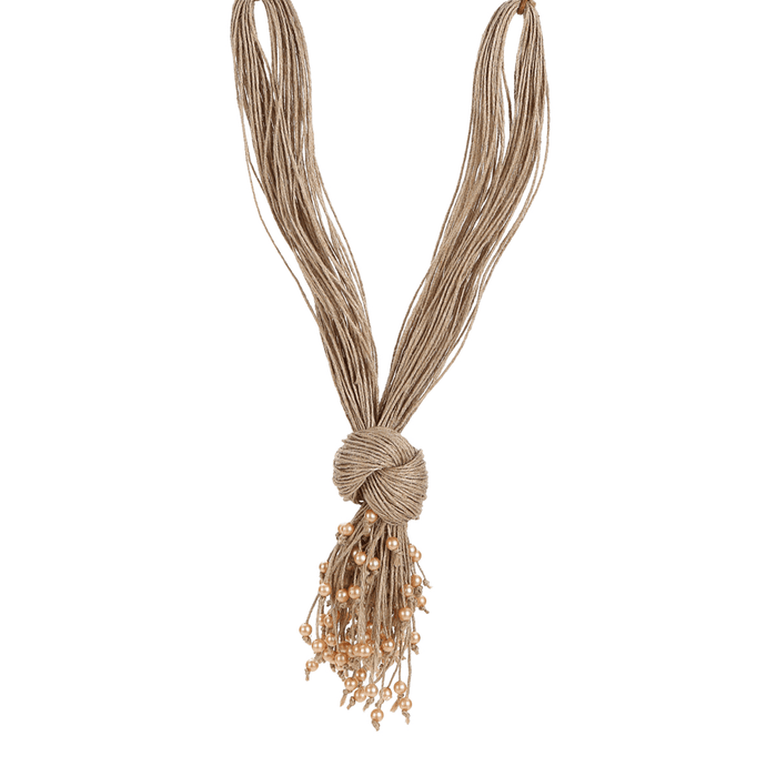 Mandara Gold Knotted Pendant Necklace - Tanzire Store