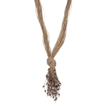 Load image into Gallery viewer, Mandara Grey Knotted Pendant Necklace - Tanzire Store