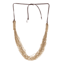 Load image into Gallery viewer, Pearl Studded Thread Layered Mandara Spritz Necklace - Tanzire Store