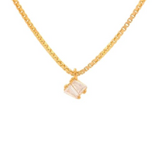 Load image into Gallery viewer, Gold Plated Zircon Pendant Necklace