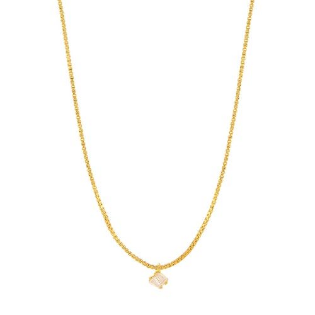 Gold Plated Zircon Pendant Necklace
