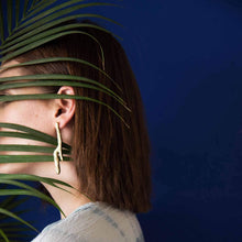 Load image into Gallery viewer, Bark-Shaped Ocean Drops Earrings In Brass - Tanzire Store