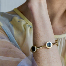 Load image into Gallery viewer, Ortum Brass And Horn Cuff Bracelet