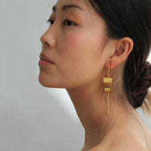 Load image into Gallery viewer, 18k Gold-plated Rohre Long Earrings