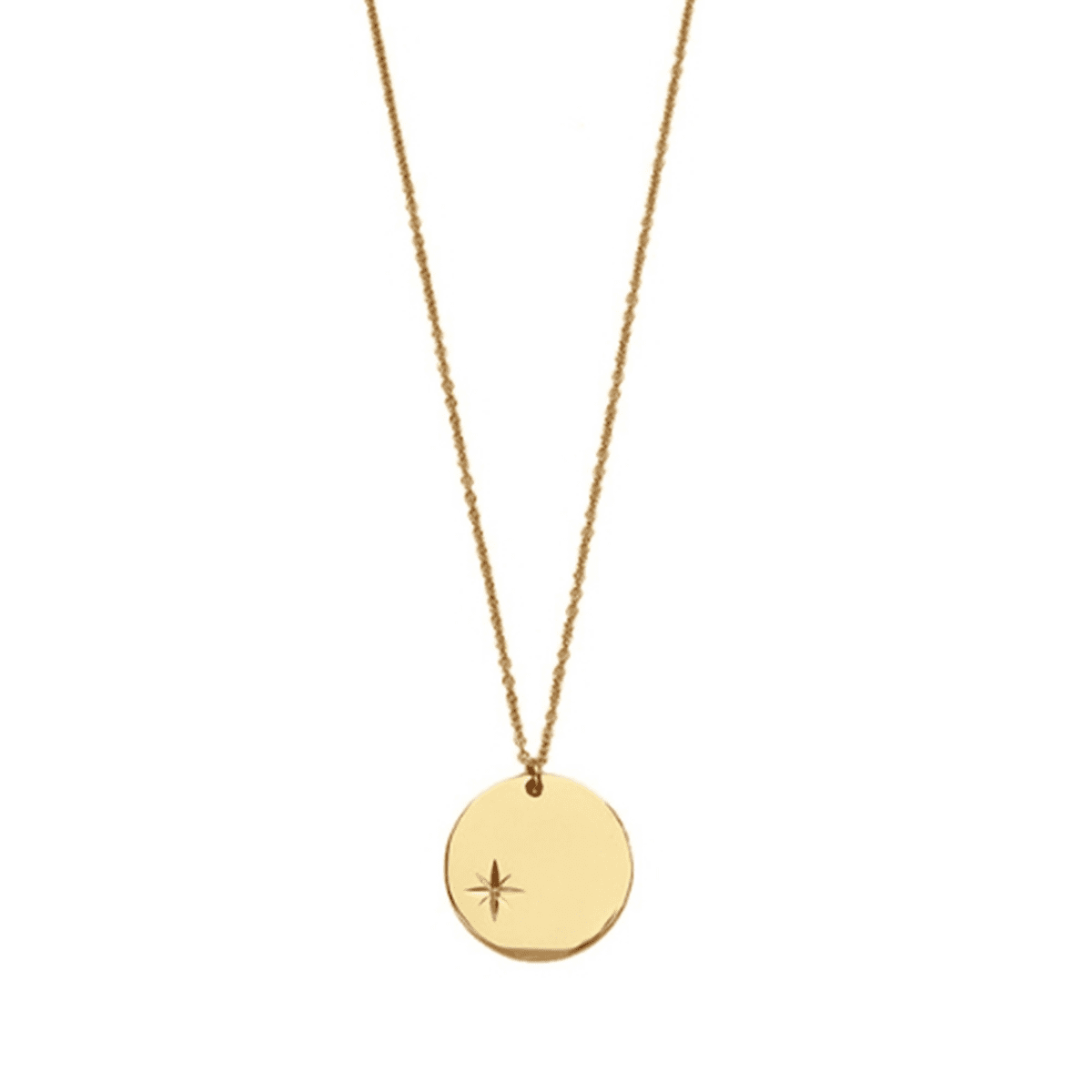 18k Gold-Plated Pendant With Small Polar Star Medal