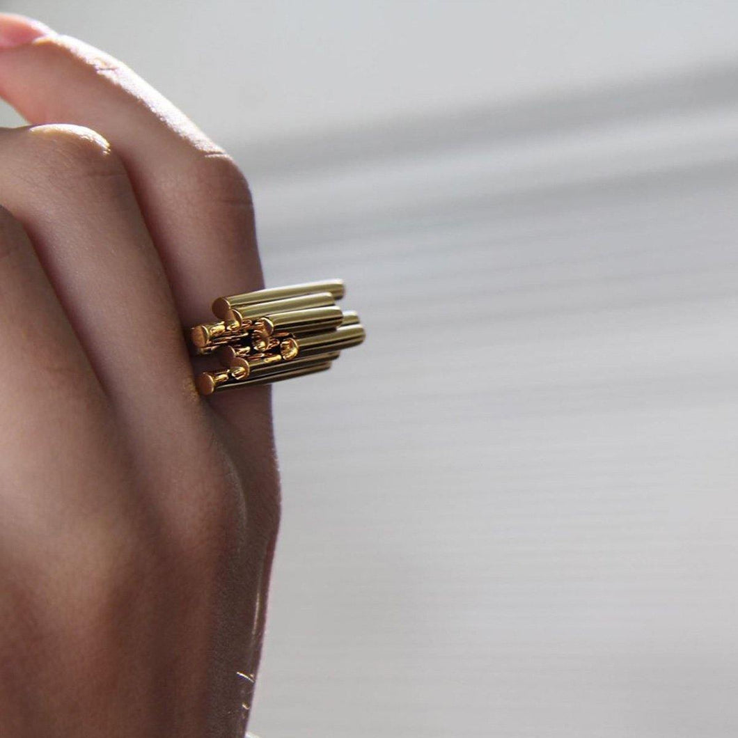 Gold Plated Adjustable Symphony Ring