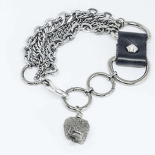 Load image into Gallery viewer, Steel Chains Pyrite Rock Pendant Bracelet - Tanzire Store
