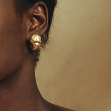 Load image into Gallery viewer, Gold Plated Brass Stud Earrings