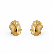 Load image into Gallery viewer, Chunky Handmade 24k Gold Plated Stud Earrings Made from Brass