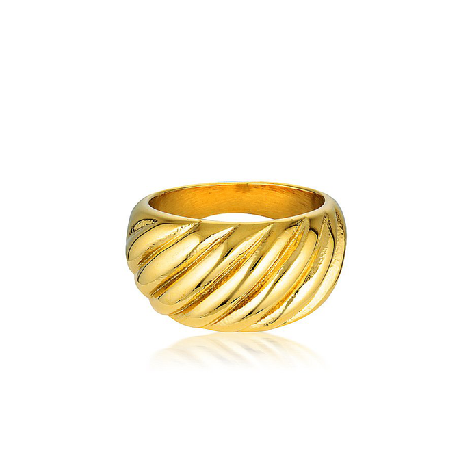 Handmade 18k Gold Vermeil Plated Croissant Ring