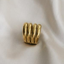 Load image into Gallery viewer, Gold Vermeil Stackable Statement Ring