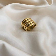 Load image into Gallery viewer, Handmade 18k Gold Vermeil Plated 4 Stack Stackable Ring