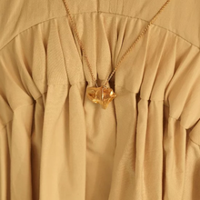 Load image into Gallery viewer, Chunky Gold Plated Folded Star Necklace