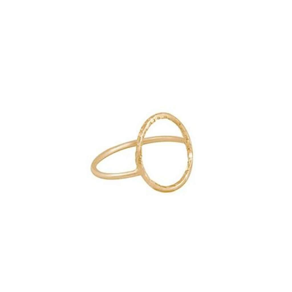 Sterling Silver Hammered Ring Gold