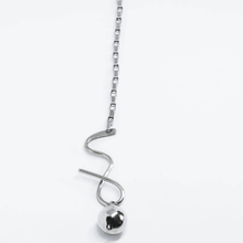 Load image into Gallery viewer, Long Vertical Pendant Silver Swing Necklace - Tanzire Store