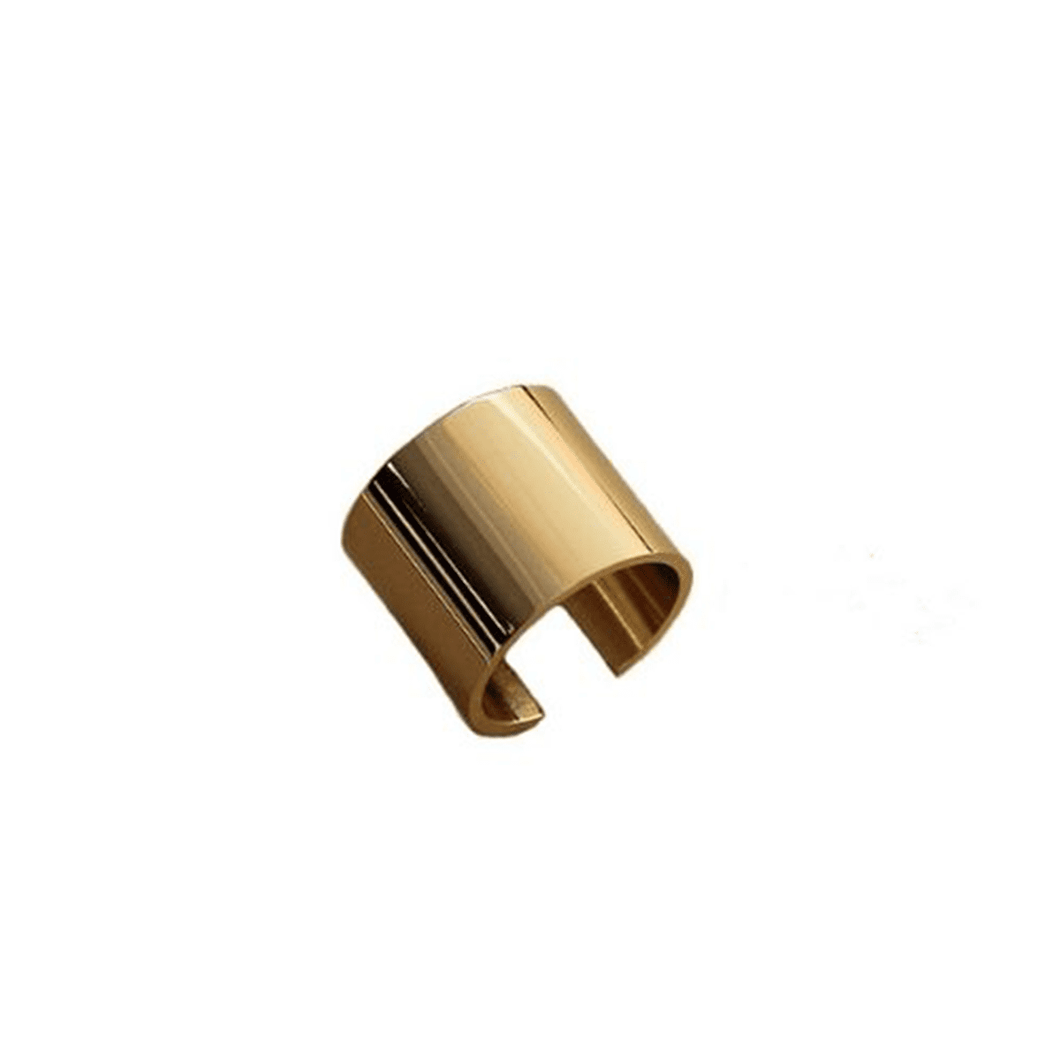 Handmade 18k gold plated contemporary adjustable ring - Tanzire