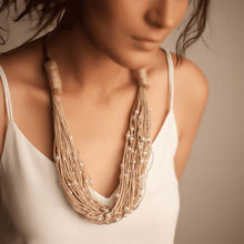 Load image into Gallery viewer, Pearl Studded Layered Necklace