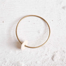 Load image into Gallery viewer, L'Adam Brass Wheel Bangle