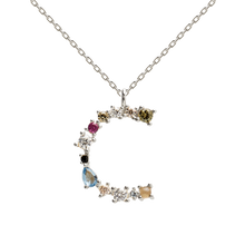 Load image into Gallery viewer, Multi Stone Letter 'C' Pendant