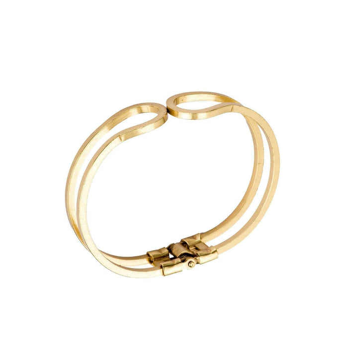 Hinged Charm Bracelet in Brass - Tanzire Store
