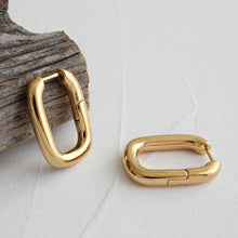 Load image into Gallery viewer, 18k Gold Plated U-Shaped Hoop Earrings