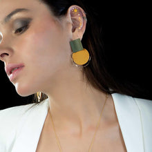 Load image into Gallery viewer, Oporto Disc Drop Stud Earrings
