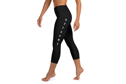 Yoga Capri Leggings - Black - Get Some