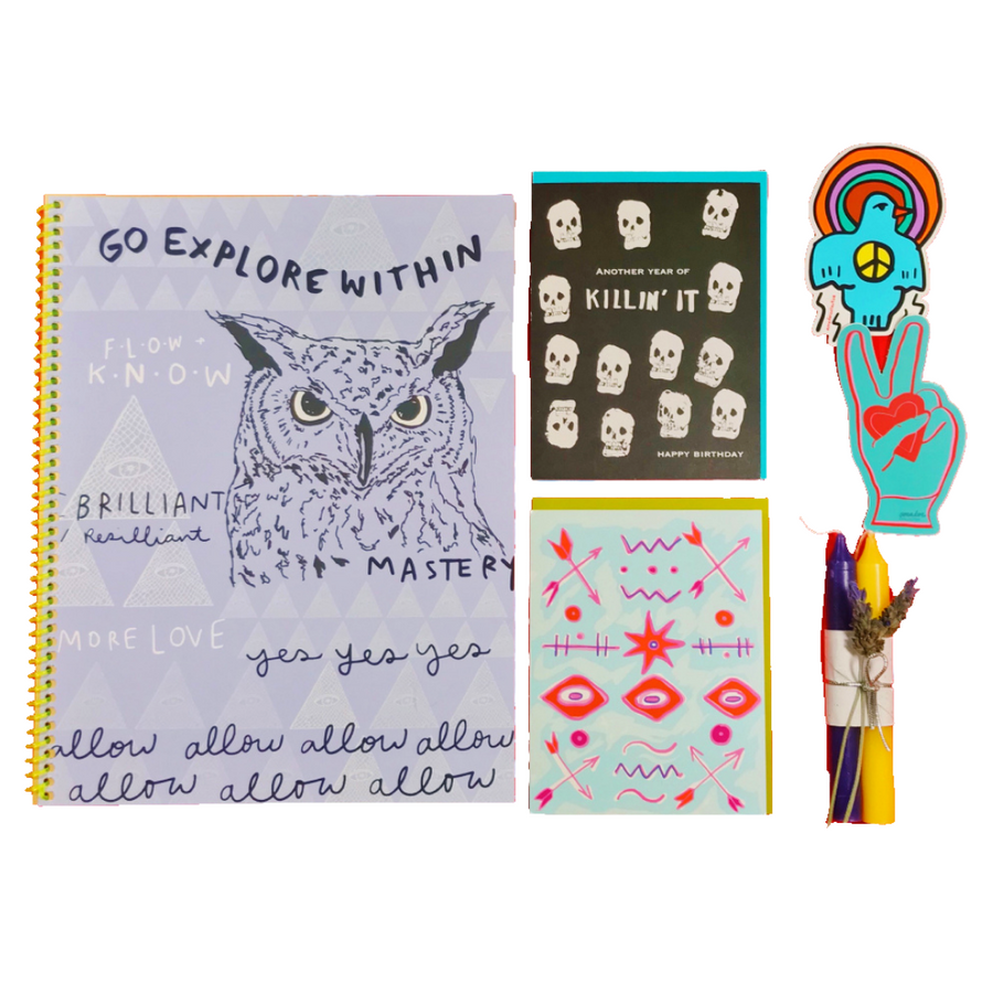 Journal Gift Set: Water Rise Owl