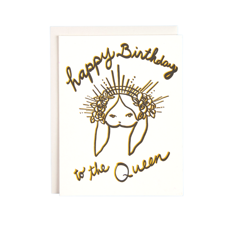 Stylish Queen Birthday Card, BunBun by Daniela Garcia Allie