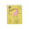 Bright Bold and Colorful Aires Birthday Card Sign of the Zodiac Ruled by Mars Hand Illustrated Greeting Card on 100% Recycled Paper