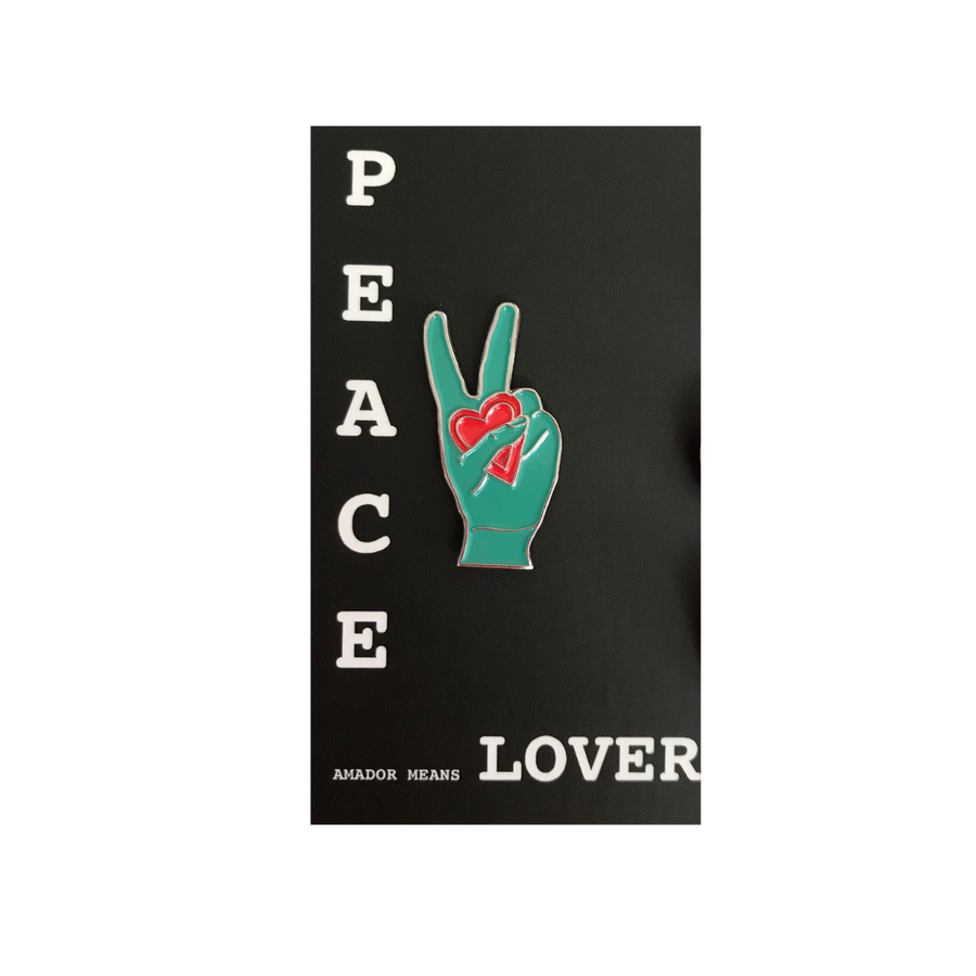 Peace Love Amador | Enamel Pin Green