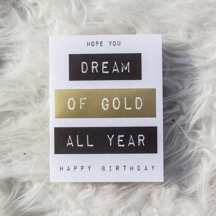 Golden Year Birthday Card