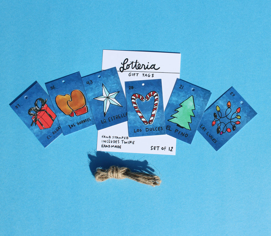 Holiday Gift Tags Set of 12 (Lotteria)