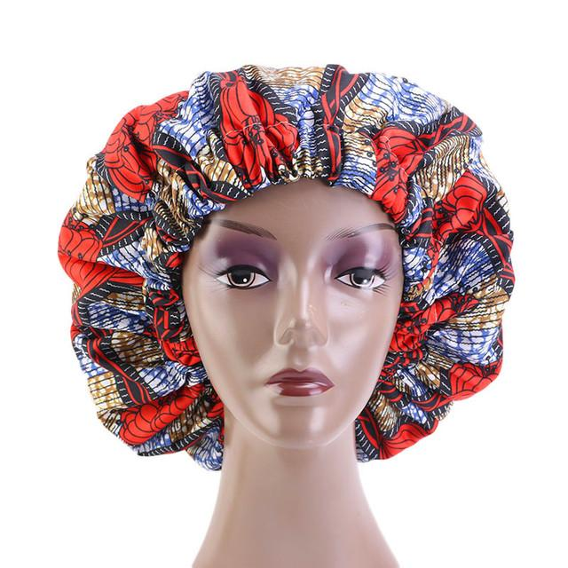 Ankara Satin Bonnett - Red