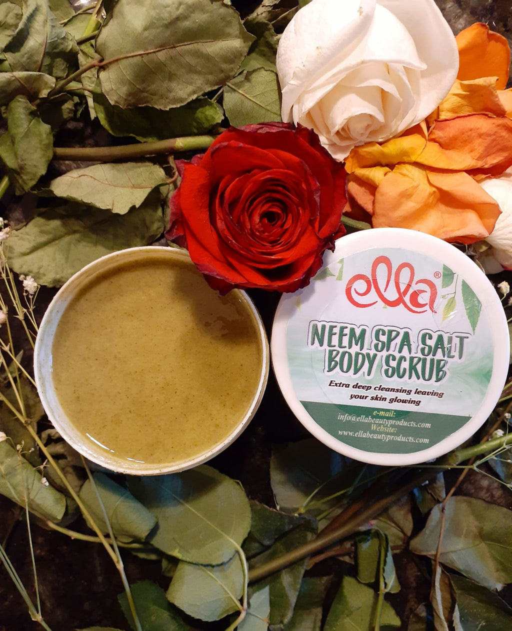 Ella Organic Beauty Products - Neem Spa Salt Body Scrub