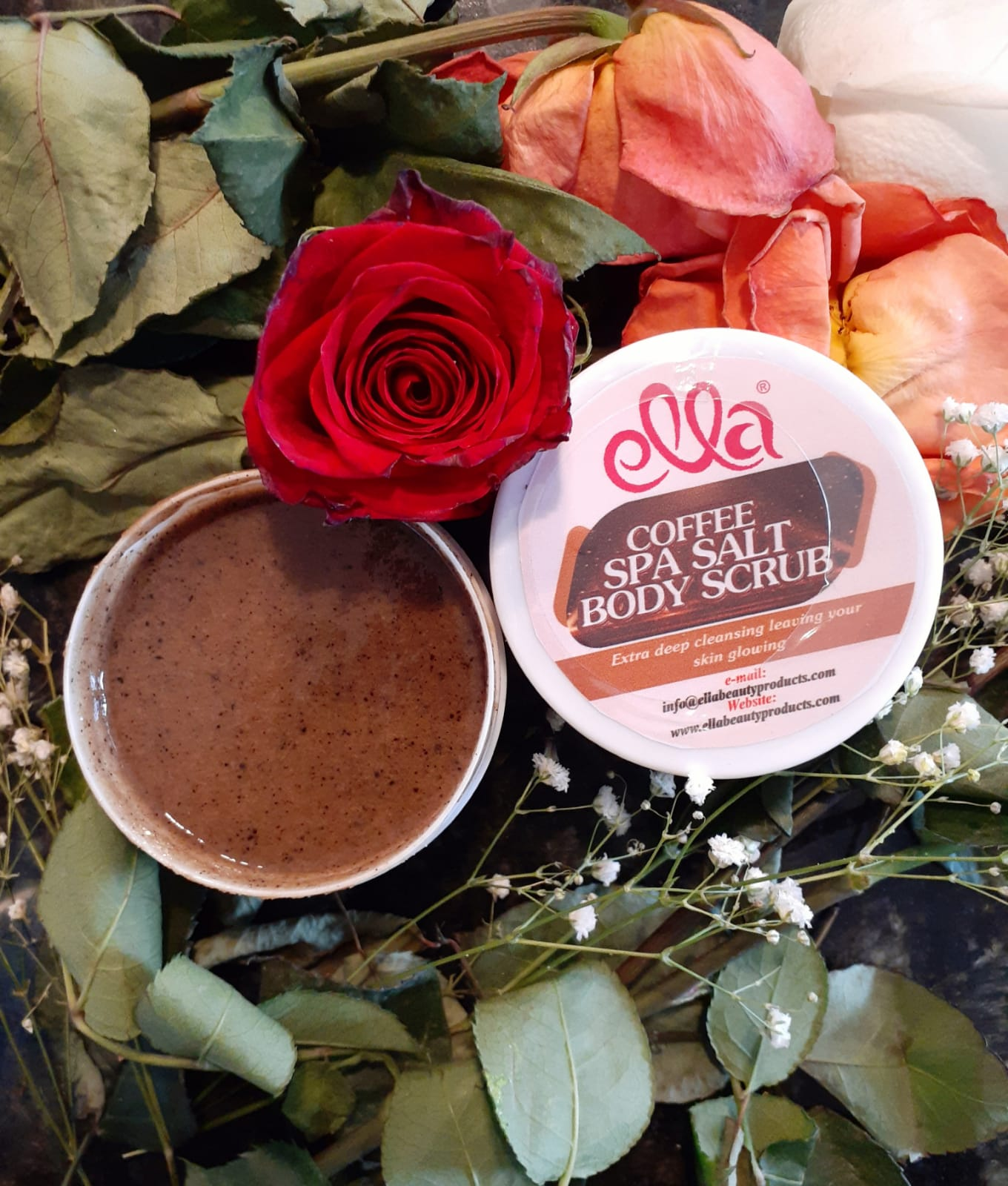 Ella Organic Beauty Products - Coffee Spa Salt Body Scrub