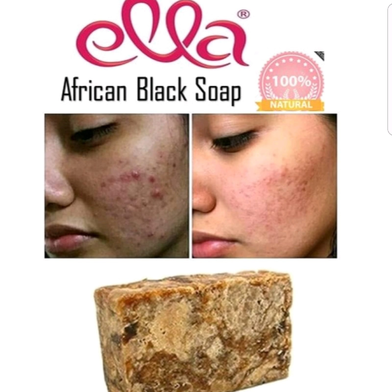 Ella Beauty Products - Raw African Black Soap Bar