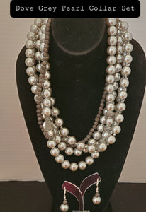 Grey Pearl Collar