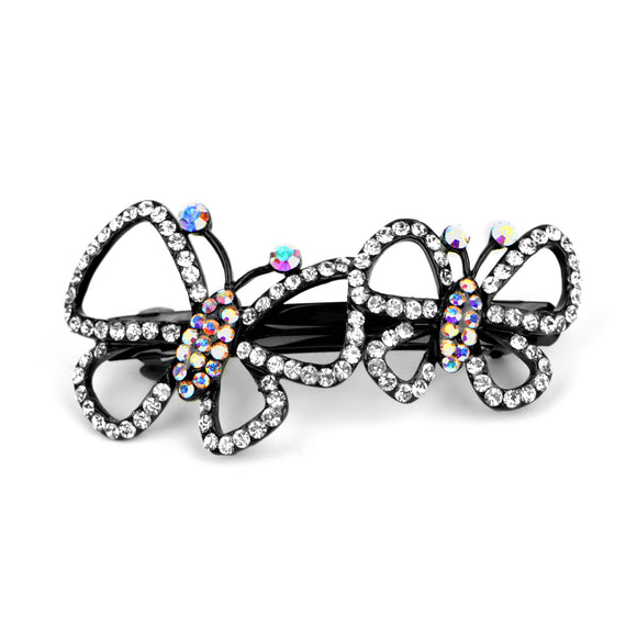 Crystal Butterfly 4.5cm Clip Barrette